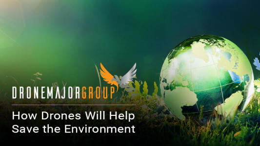 banner image of drone use to aid in environmentally friendly decision making
