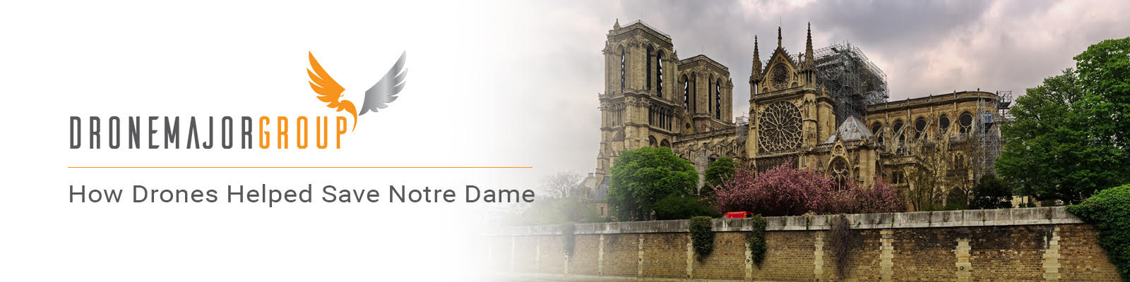 drones at notre dame photo of the cathedral with air drone flying over