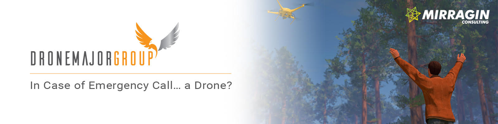 mirragin emergency services and defense drone use