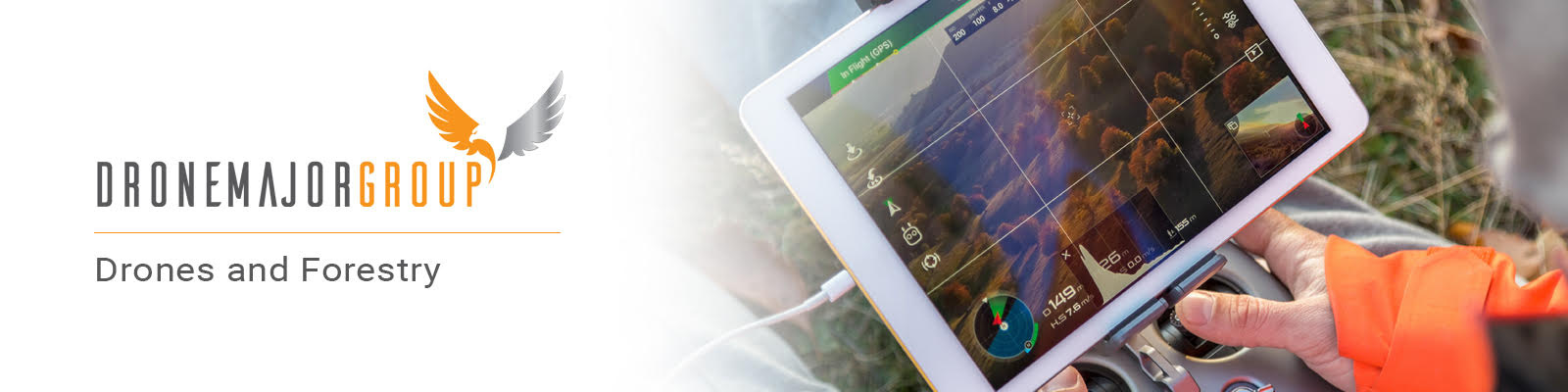 drones and forestry landscape view point for white paper