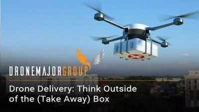 large scale image of hospital drone delivery process