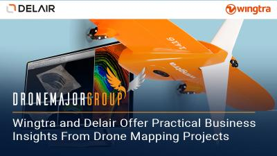 Wingtra and Delair sign on dotted line to offer practical business insights from large, high-accuracy drone mapping projects
