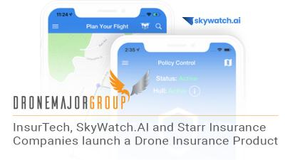 SkyWatch.AI and Starr offer on-demand hourly, monthly and annual drone insurance solutions based on a proprietary safety platform