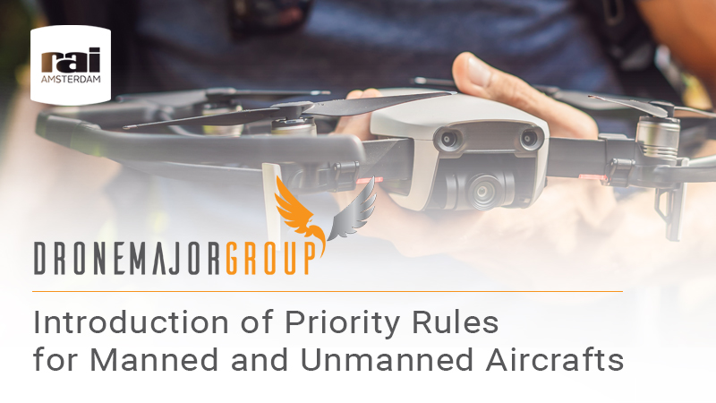 Introduction of priority rules for manned and unmanned aircrafts